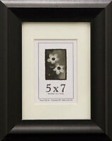 Wood Picture Frame 5x7 W/real Glass - 4 Color Options
