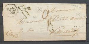 1846-Lettre-cursive-8-Saurat-CAD-T15-TARASCON-S-ARIEGE-8-Sup-X3412