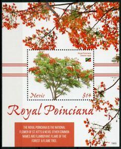 Nevis 2019 Neuf Sans Charnière Royal Jasmins Flame Tree 1 V S/s Fleurs Arbres Nature Timbres-afficher Le Titre D'origine Bon Pour AntipyréTique Et Sucette De La Gorge