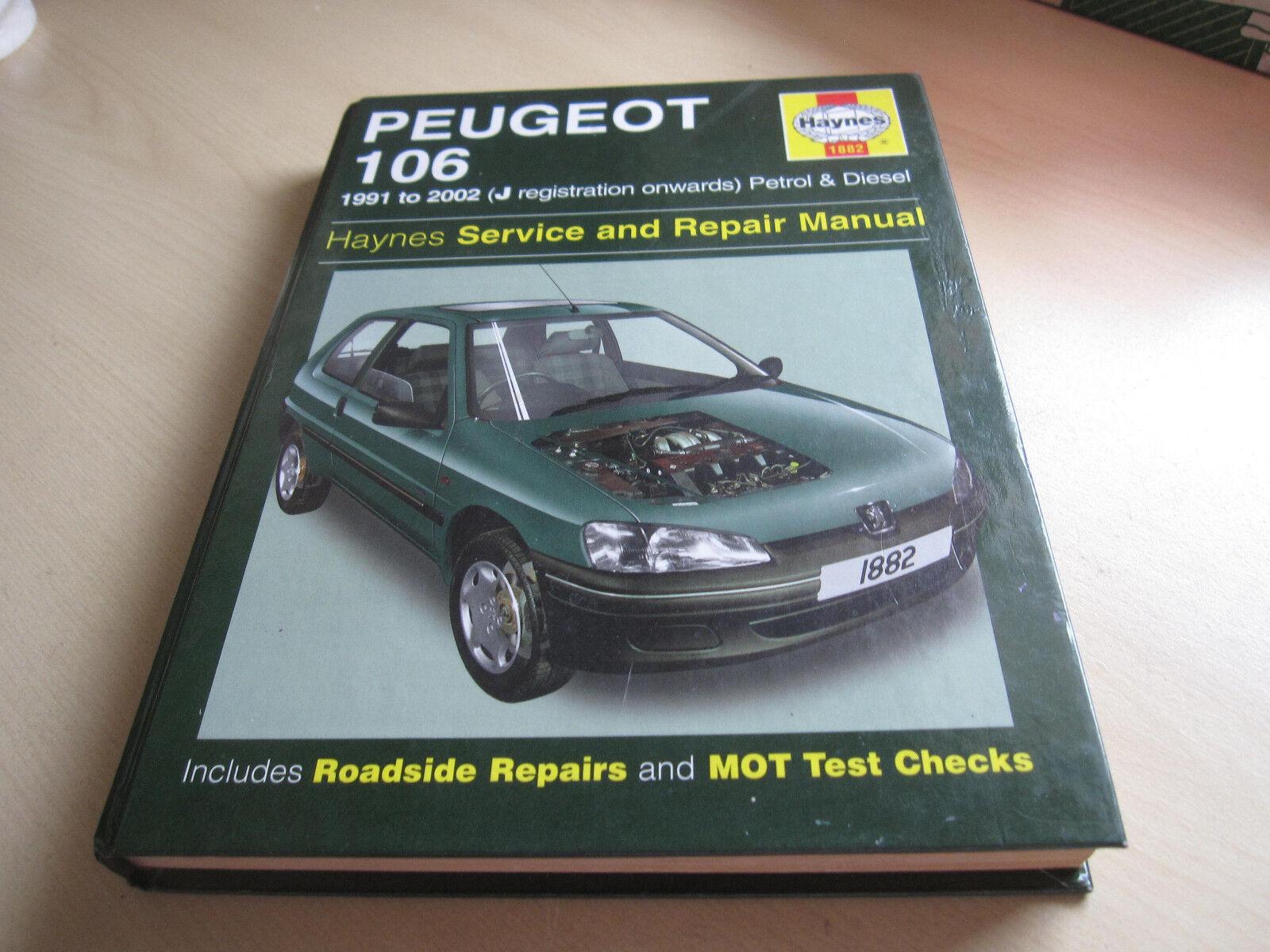 Peugeot 106 Haynes Manual 1991 to 1998 Petrol & Diesel Rallye GTI 16 Valve  | eBay