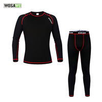 Mens Winter Thermal Compression Base Layer Under Wear Long Sleeve Shirts+pants