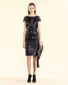 6779b4cea $3750 NEW Authentic Gucci Leather Belted Dress, Black, 348549 1000 ...