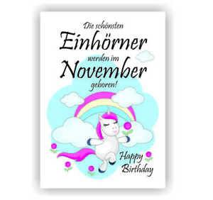 Urkunde Fest Geburtstag Liebe Geschenk Bild Happy Birthday Einhorn