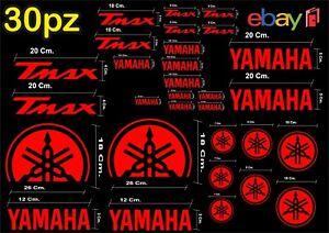 MAXI-KIT-30-PZ-DI-ADESIVI-YAMAHA-OLD-TMAX-T-MAX-500-530-COLORE-ROSSO