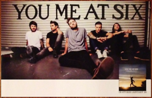 YOU ME AT SIX Cavalier Youth Ltd Ed New RARE Poster /& Sticker FREE Metal Poster