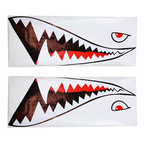 """59/"""" Shark Mouth Tooth Teeth Reflective Sticker For Auto Car Side Door Styling"""