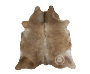 Details About New Brazilian Cowhide Rug Leather Taupe Grey 6 X8 Cow Hide