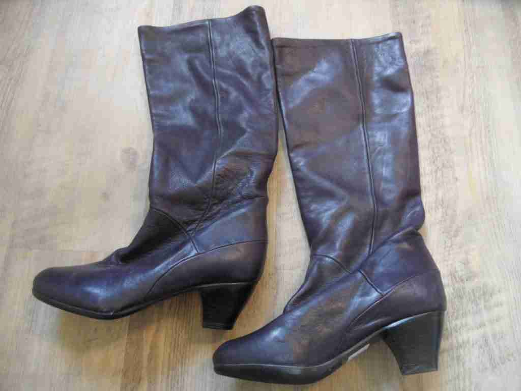 Tango hermosas botas altas ciruela nuevo zc517