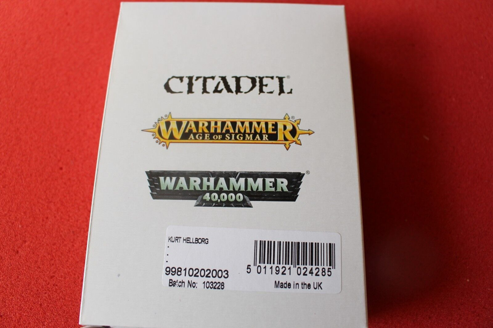 Games Games Games Workshop Warhammer L'empire Kurt HELBORG Entièrement neuf dans sa boîte Finecast Neuf Épuisé HELLBORG 4f0267