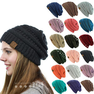 d8fed95b500dc BRAND NEW COLORS CC BEANIE TWO TONE WOMEN CABLE KNIT SUPER CUTE ...