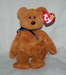 54a60ba3567 Ty Beanie Baby Fuzz Brown Teddy Bear Plush Stuffed Animal with Tag ...