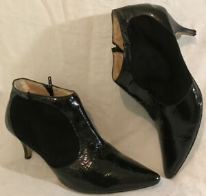 Autograph-Black-Ankle-Leather-Lovely-Boots-Size-7-5-933v