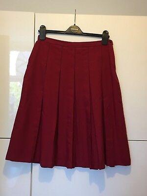 Bene City Of London School For Girls Harrods Rosso Gonna Lunga Uniforme Invernale Medio- Elegante Nello Stile