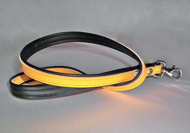 Schlüsselband Lederschlüsselband gelb Leder lanyard key band leather yellow gay