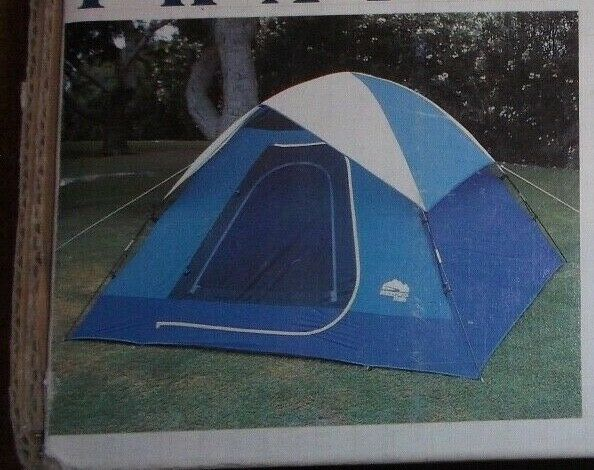 nuovo in scatola 7'8 x 7'8 Wilderness Trails Dome Tent Sleeps 3   25740 6 lbs. 8 oz.
