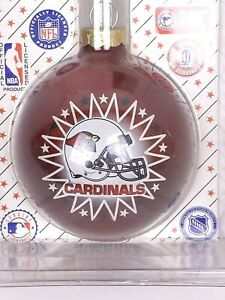 Vintage-Sports-Collector-Glass-Ball-Christmas-Ornament-NFL-ARZ-Cardinal-Football