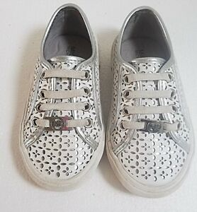 Michael-Kors-Toddler-Shoes-Size-8-White-Silver