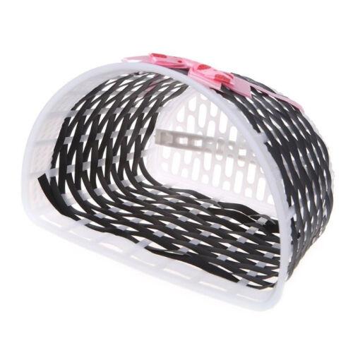 1*Bike Bowknot Front Basket Bicycle Cycle Shopping Flower Children Kids Girls