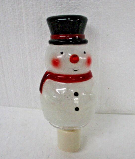 Night Light  Christmans Snowman with light bulb Really Cute