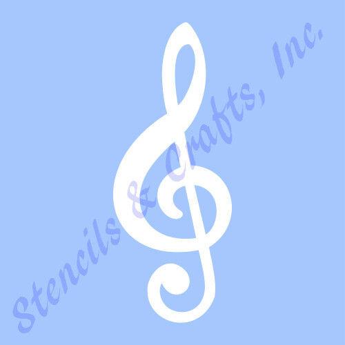 Treble Clef Stencil Music Musical Notes Stencils Note Template