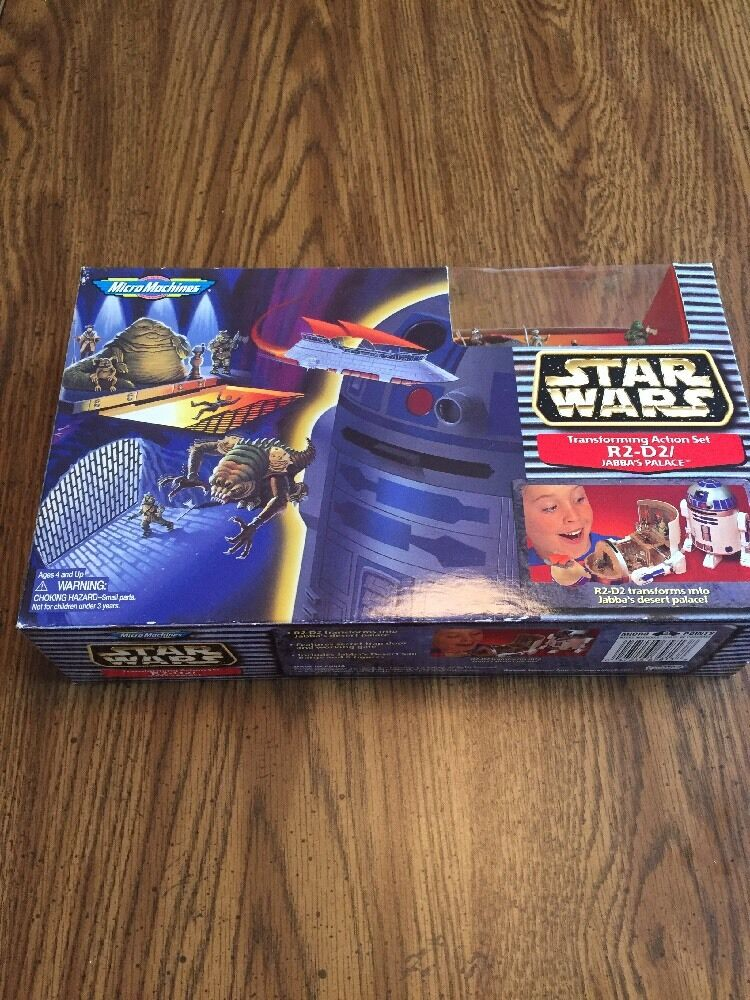 NIB Galoob Star Wars Transforming Action Set R2 D2 Jabbas Palace 65813
