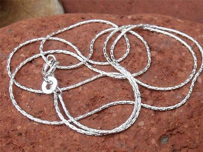 """925 SILVER 1MM CABLE CHAIN/NECKLACE 22"""" INCHES HANDCRAFTED JEWELLERY"""