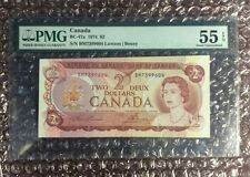 1974 $2 Canada Note BC-47a Lawson/Bouey PMG 55 Exceptional Paper Quality & Error