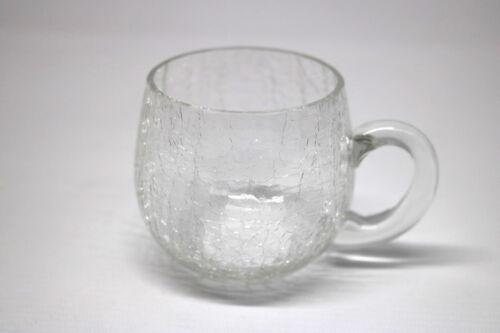 Craquelee Glas Tasse 60er Jahre