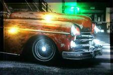 LED Bild 65 cm x 45 cm Leuchtbild Auto Käfer Rot Samarkand-Lights