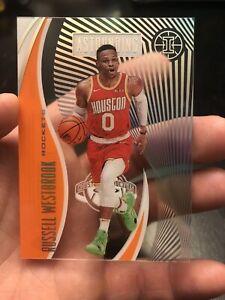 Russell Westbrook 2019-20 Illusions Astounding Orange Parallel SSP #18 Rockets