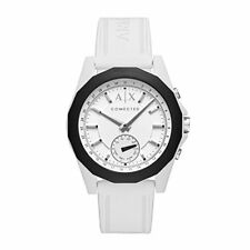 Armani Exchange Hybrid Silver White Silicone Band Conected 44mm AXT1000