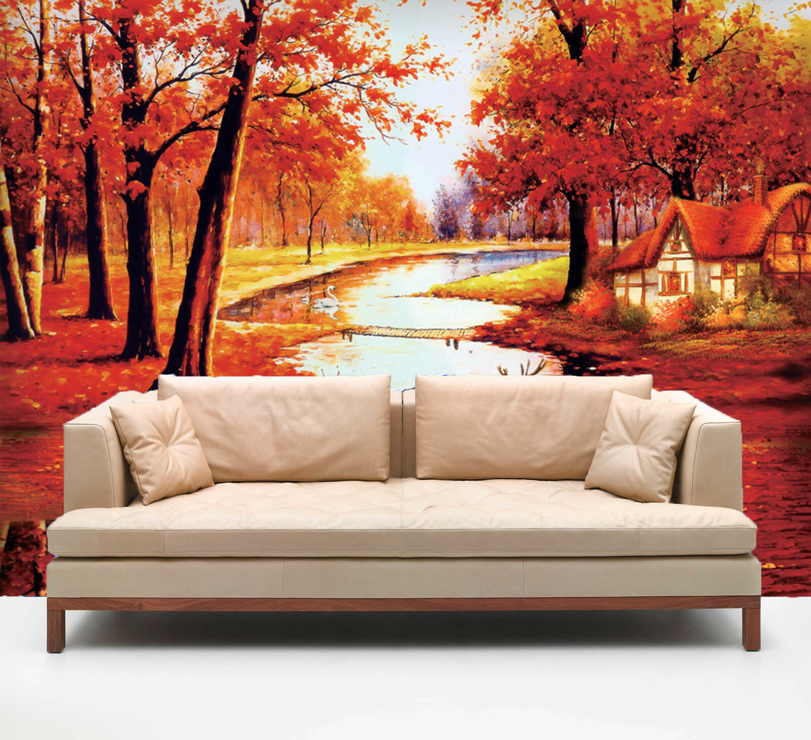 3D Maple Tree 459 Wallpaper Murals Wall Print Wallpaper Mural AJ WALL AU Summer