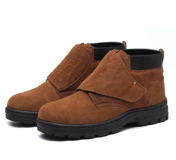 6-11 Men Leather Chukka Welder shoes Steel Toe Welding Boots Work Safety shoes