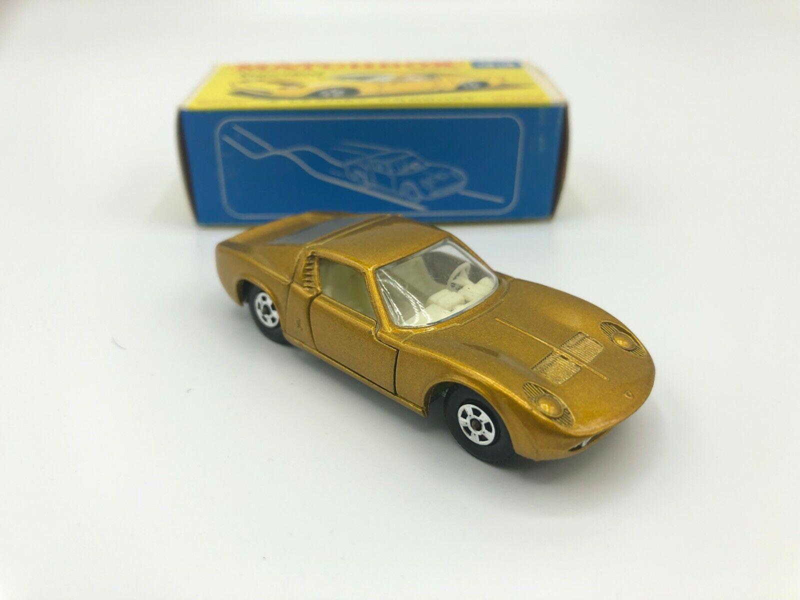 Matchbox Lesney Lamborghini Mura P400 Mint In Original F2 Box