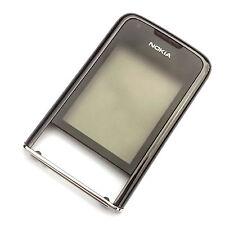 100% Original Nokia 8800 Arte Bisel Frontal Pantalla Lente + CARCASA Gun Metal Negro