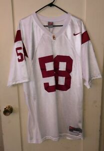 wholesale dealer c6126 31a98 Details about USC TROJANS Football NIKE #58 Rey Maualuga Stitched XXL  Stitched Jersey