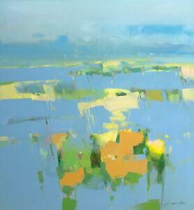 Meadow Breeze, Original Oil painting, Handmade artwork, One of a kind