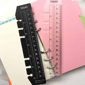 A5-A6-A7-2pcs-Black-White-Bookmark-Rulers-Spiral-Notebook-Quick-Page-Finder-U