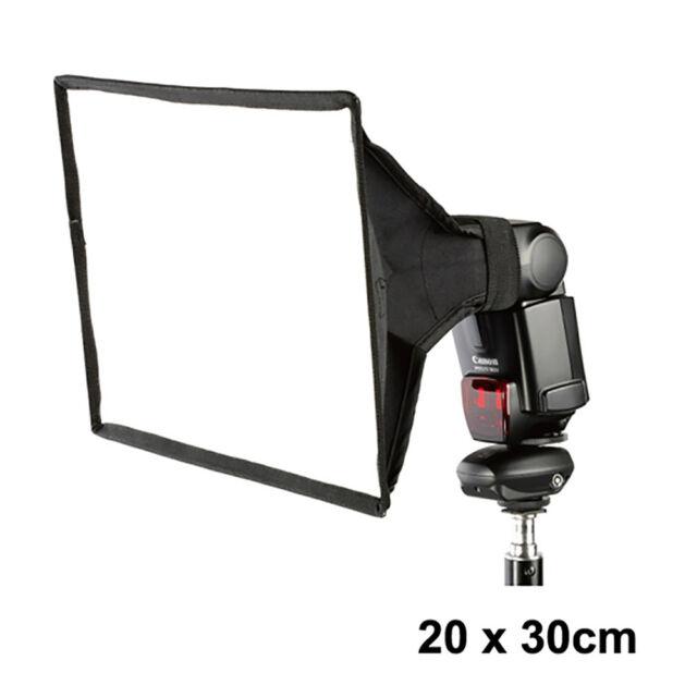 20x30cm Universal Speedlite Foldable Portable Flash Diffuser Softbox For Nikon