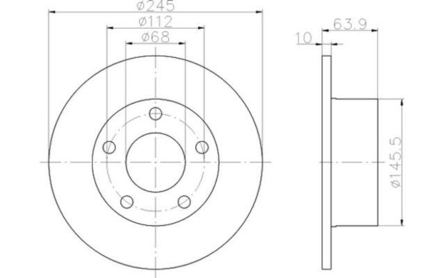 TEXTAR Juego de 2 discos freno Trasero 245mm VOLKSWAGEN PASSAT AUDI A6 92057503