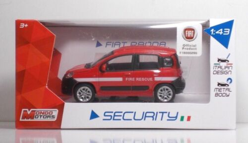 "METAL Scala 1:43 MondoMotors 53012 FIAT Nuova PANDA /""Fire Rescue/"""