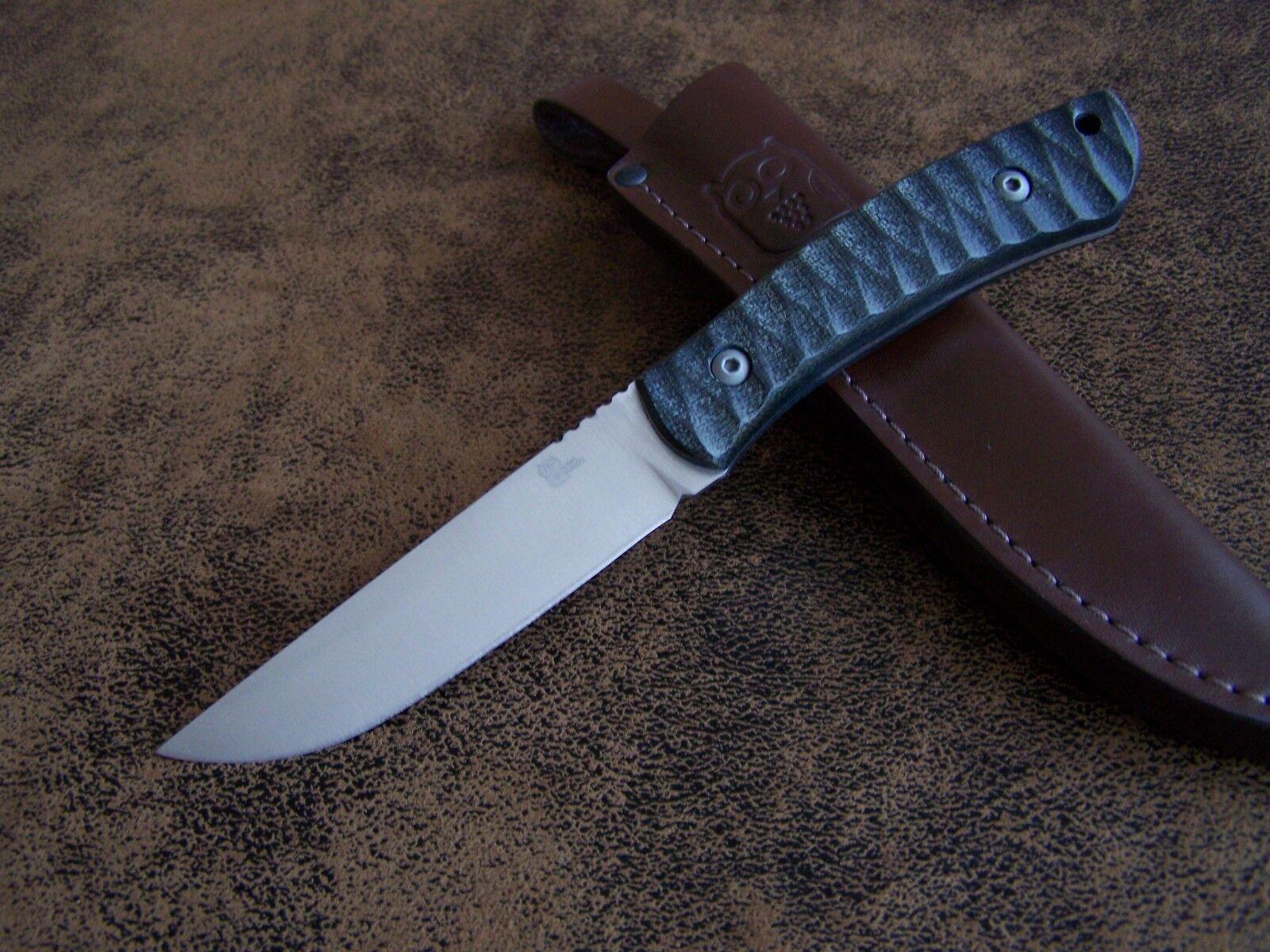 OWL KNIVES Exklusives Outdoor   Jagdmesser Mod.KETUPA-F N690 Böhler Stahl 61-HRC