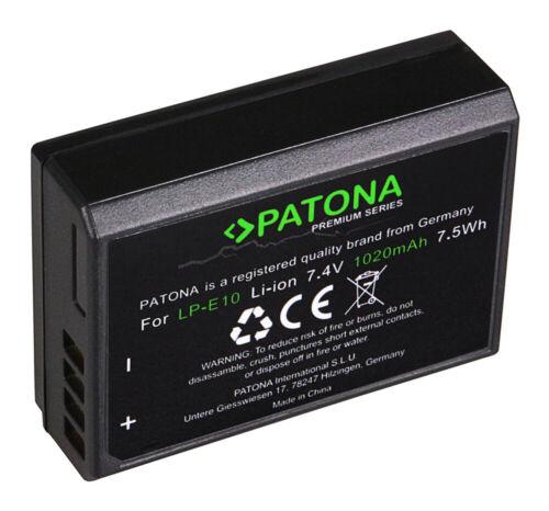 Batteria Patona Premium 7,4V 1020mAh per Canon EOS 1200D,EOS 1300D