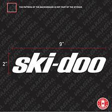 2X SKI-DOO LOGO car sticker vinyl decal
