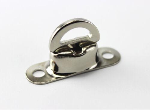 10 x Drehverschluss f Ovalösen 22,5 x 13,5 mm Messing Nickel rostfrei Plane