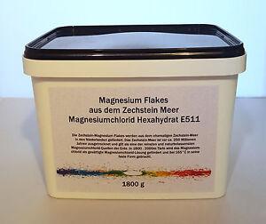 1800 g (1,8 kg) Magnesium Flakes aus dem Zechstein Meer, Magnesiumchlorid E511 - Duisburg, Deutschland - 1800 g (1,8 kg) Magnesium Flakes aus dem Zechstein Meer, Magnesiumchlorid E511 - Duisburg, Deutschland