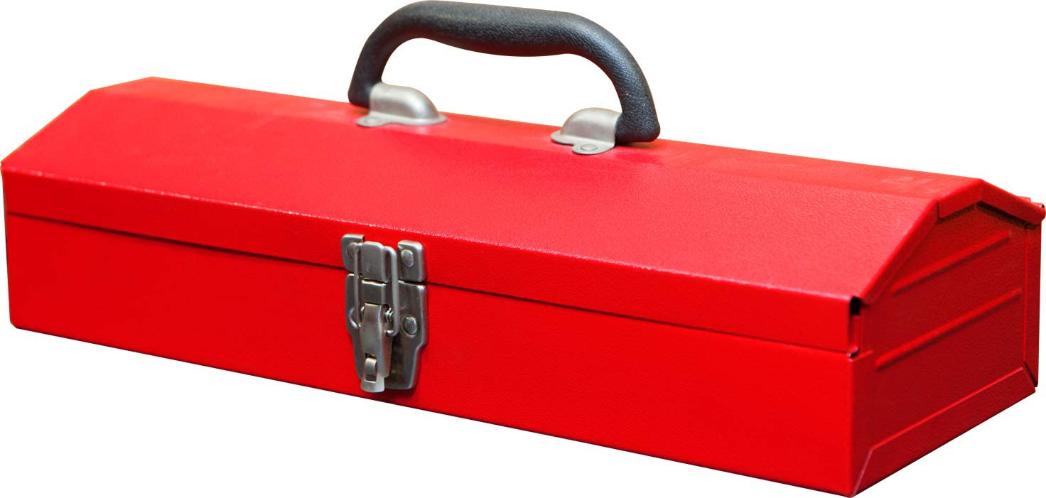 Red Metal Hip Roof Style Portable Steel Tool Box With Metal Latch 16 For Sale Online