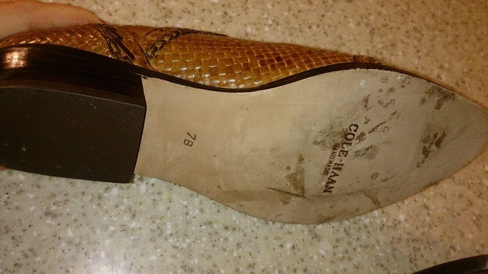 New Cole-Haan Mariel Brandy Woven Leather 7 B Like Like Like 6.5 B 1fb5c5