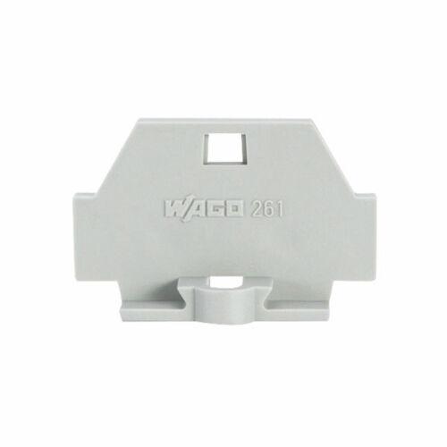 Placa de extremo WAGO 261-361 1.5mm² Bridas de Fijación serie 261 Gris
