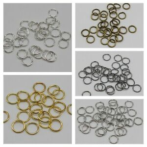 600-Metal-Open-Jump-Ring-8X1mm-Round-Loop-O-Ring-Link-Connector-Colour-Choice